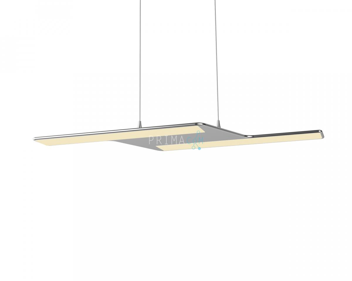 Adotled Pendant Lamp Silver, 20W, Size: 560x206x6mm. 1350lm, 2700K. driver KED024S0700NR07A4 700 Ma