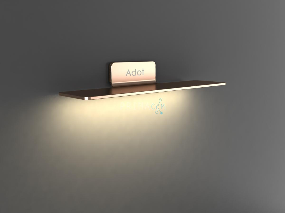 Adotled  Wall Lamp Gold, 10W, Size: 400x66x86mm. 750lm, 4000K, IP20