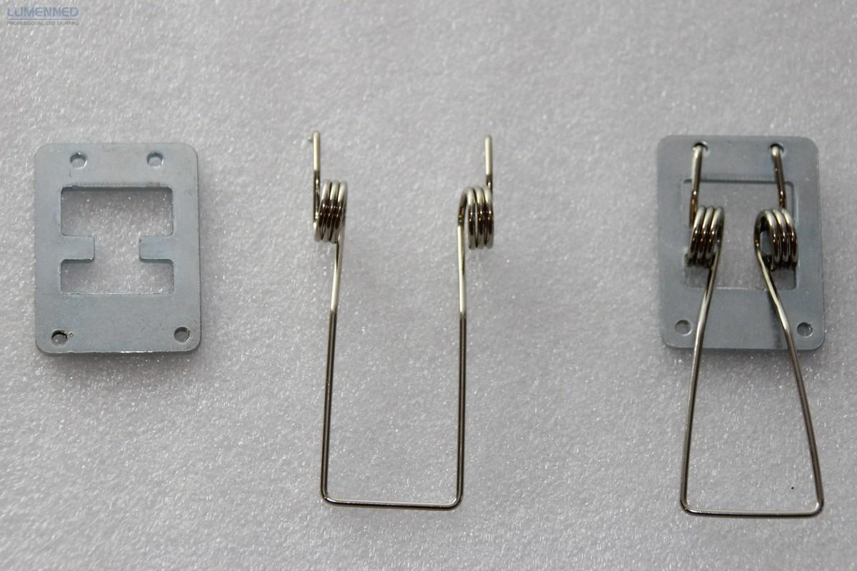 Set of 4 pcs clips for Recessed Fixture of the new  35W and former 40/45W generation Sheenly panels. ( Rigips ceilings )