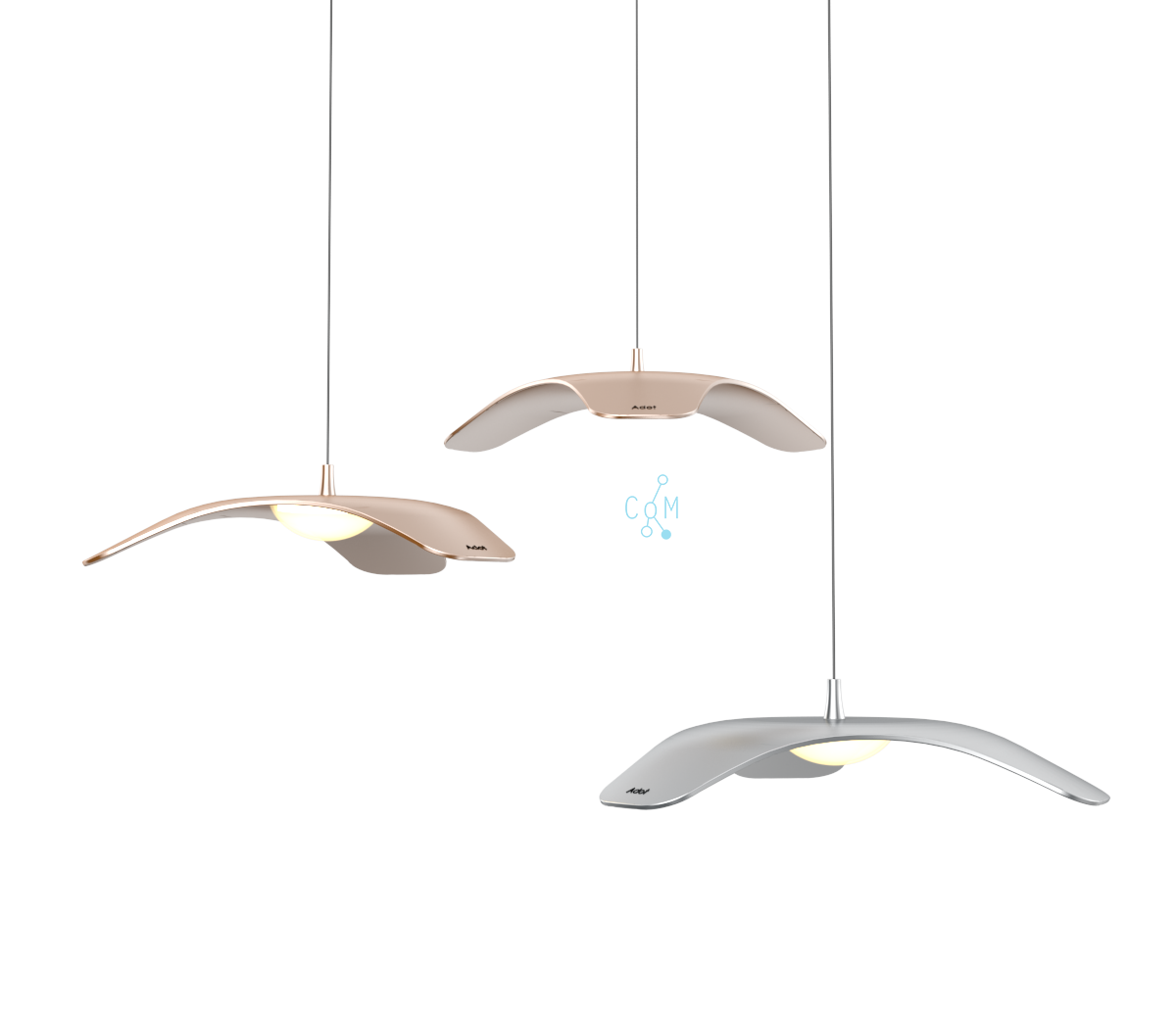 Adotled Pendant Lamp Silver, 10W, Þ 340mm. 3000K, 850lm